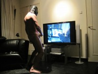 Free porn pics of Me jerking in frint of TV 1 of 22 pics