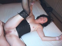 Free porn pics of Mature brunette wife bed tied stockings amateur voyeur nylons 1 of 29 pics