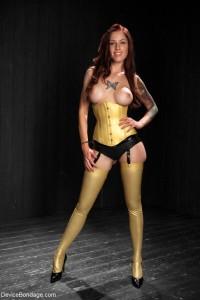 Free porn pics of Tattooed girl in bondage 1 of 22 pics