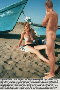 Free porn pics of how to slowly get saggy Sandy used to public nudity 1 of 7 pics