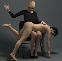 Free porn pics of Porn Art - Women Spanking Men 1 of 39 pics