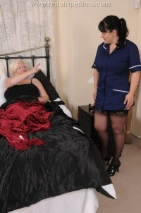 Free porn pics of Nurse Gets Her Big Bare Bottom Spanked by Mature Blonde 1 of 52 pics