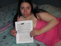 Free porn pics of White whore contracts as slave to blacks 1 of 24 pics