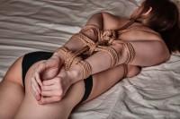 Free porn pics of Tied rope shibari arms behind 1 of 4 pics