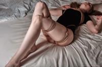 Free porn pics of Bondage and foots in black clothes 1 of 4 pics