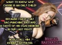 Free porn pics of Mortal Kastration (Kombat) ballbusting femdom cbt video game 1 of 1 pics