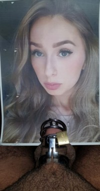 Free porn pics of Chastity milking blond tribute 1 of 5 pics